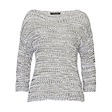 Buy Betty Barclay Ribbon Knit Jumper, White/Black Online at johnlewis.com