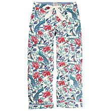 Buy Fat Face Peacock Print Trousers, Multi Online at johnlewis.com