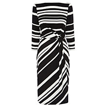 Buy Coast Jilly Stripe Dress, Black/White Online at johnlewis.com