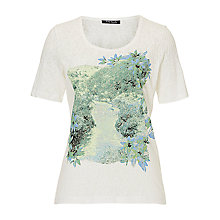 Buy Betty Barclay Embellished Top, Cream/Green Online at johnlewis.com