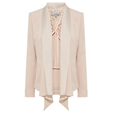 Buy Coast Myalee Draped Jacket, Blush Online at johnlewis.com