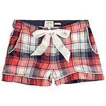 Buy Fat Face Herringbone Check Pyjama Shorts, Burnt Coral Online at johnlewis.com