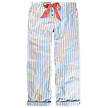 Buy Fat Face Pinstripe Lounge Pants, Pale Blue Online at johnlewis.com