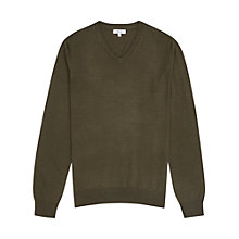Buy Reiss Emperor Merino V Jumper, Sage Online at johnlewis.com