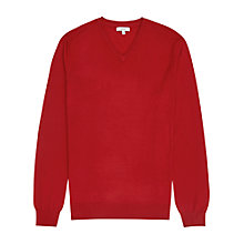 Buy Reiss Emperor Merino V Jumper, Burnt Amber Online at johnlewis.com