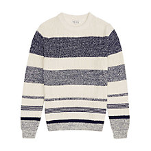 Buy Reiss Carmen Chunky Stripe Jumper, Ecru Online at johnlewis.com