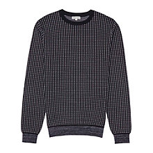 Buy Reiss Audit Textured Crew Neck Jumper, Navy Online at johnlewis.com