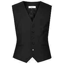 Buy Reiss Martin Textured Modern Fit Waistcoat, Black Online at johnlewis.com