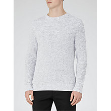 Buy Reiss Elecktra Ribbed Fleck Jumper, Navy/White Online at johnlewis.com