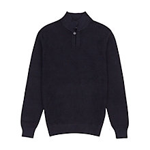 Buy Reiss Belsize Collared Jumper, Navy Online at johnlewis.com
