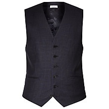 Buy Reiss Marvel Check Wool Slim Fit Waistcoat, Navy Online at johnlewis.com