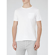 Buy Reiss Imperial Raw Edge T-Shirt, White Online at johnlewis.com