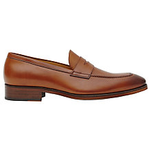 Buy Reiss Cent Leather Penny Loafers, Tan Online at johnlewis.com