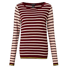 Buy Maison Scotch Easy Stripe Jumper, Red Online at johnlewis.com