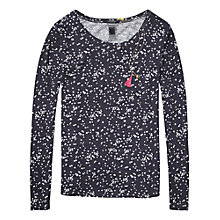 Buy Maison Scotch Ditsy Print T-Shirt, Navy Online at johnlewis.com