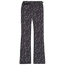 Buy Maison Scotch Star Print Flared Trousers, Navy Online at johnlewis.com