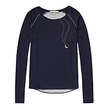 Buy Maison Scotch Printed Back T-Shirt, Navy Online at johnlewis.com