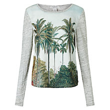 Buy Maison Scotch Palm Print T-Shirt, Multi Online at johnlewis.com