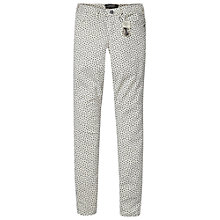 Buy Maison Scotch La Bohemienne Star Print Skinny Jeans, White/Black Online at johnlewis.com