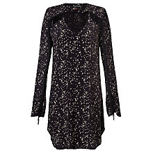Buy Maison Scotch Fringed Star Print Dress, Navy Online at johnlewis.com