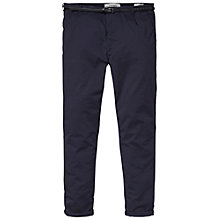 Buy Maison Scotch Pima Cotton Stretch Chino Trousers, Navy Online at johnlewis.com