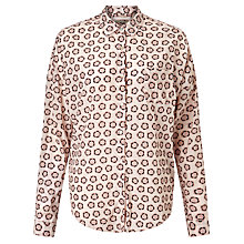 Buy Maison Scotch Star Print Shirt, Cream Online at johnlewis.com