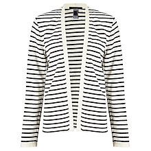 Buy Maison Scotch Jersey Stripe Blazer, Navy/Cream Online at johnlewis.com