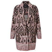 Buy Maison Scotch Tribal Cocoon Coat, Multi Online at johnlewis.com
