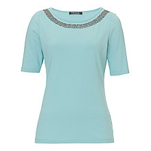 Buy Betty Barclay Beaded Neck T-Shirt, Cool Mint Online at johnlewis.com