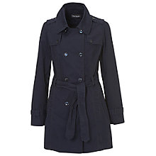 Buy Betty Barclay Cotton Trench Coat, Dark Navy Online at johnlewis.com