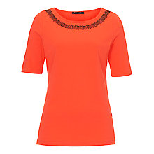 Buy Betty Barclay Beaded Neck T-Shirt Online at johnlewis.com
