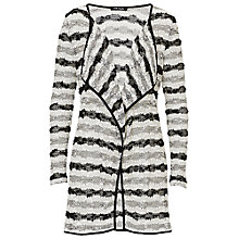 Buy Betty Barclay Long Waterfall Cardigan, Black/White Online at johnlewis.com