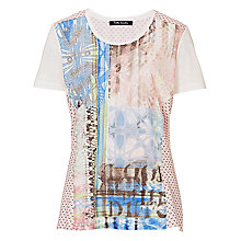 Buy Betty Barclay Striped Oversized Top, Blue/Pink Online at johnlewis.com