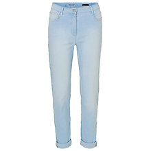 Buy Betty Barclay Perfect Body 5 Pocket Jeans, Blue Bleached Denim Online at johnlewis.com