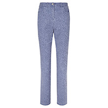 Buy Viyella Animal Jacquard Print Long Fit Jeans, Blue Online at johnlewis.com