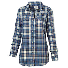 Buy Fat Face Boyfriend Herringbone Shirt, Navy Online at johnlewis.com