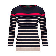 Buy Viyella Stripe Pocket T-Shirt, Red/Multi Online at johnlewis.com
