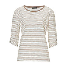 Buy Betty Barclay Oversized Stripe Top, Taupe/Cream Online at johnlewis.com