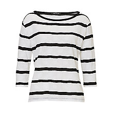 Buy Betty Barclay Striped Oversized Top, White/Black Online at johnlewis.com