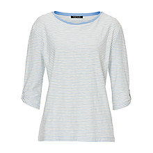 Buy Betty Barclay Striped Oversized Top, Blue/Cream Online at johnlewis.com