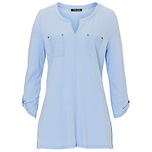 Buy Betty Barclay Double Pocket Top, Frosted Blue Online at johnlewis.com