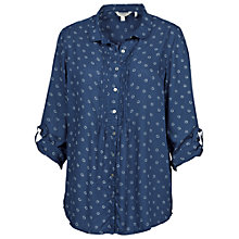 Buy Fat Face Annabelle Daisy Blouse, Indigo Online at johnlewis.com