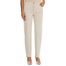 Buy Betty Barclay Five Pocket Perfect Body Jeans, Beige Online at johnlewis.com