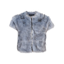 Buy French Connection Still Water Faux Fur Jacket, Union Blue Online at johnlewis.com