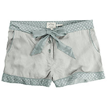 Buy Fat Face Striped Rayon Pyjama Shorts, Grey Marl Online at johnlewis.com