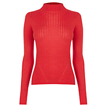 Buy Warehouse High Neck Rib Top Online at johnlewis.com