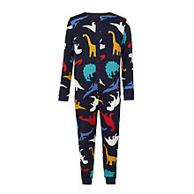 Buy John Lewis Boys' Dinosaur Onesie, Navy Online at johnlewis.com