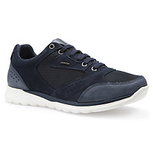 Buy Geox Damian Trainers, Navy Online at johnlewis.com