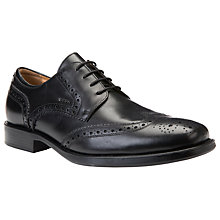 Buy Geox Federico Lace-Up Brogues, Black Online at johnlewis.com