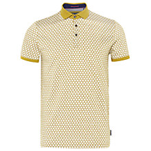 Buy Ted Baker Runapp Spot Print Polo Shirt, Olive Online at johnlewis.com